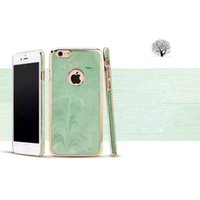 Wholesale Crafts Wholesale For Phone Cases - New jade series iPhone 6G 6S 6Splus phone cases PC +UV material plating + marble craft waterproof wear-resisting mobile phone shell