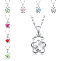Wholesale korean cute jewelry - Red Blue Korean Austrian Crystal cute Bear Pendant Necklace Silver Chain Fashion Jewelry for Women Gift animal necklace maxi statement