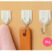 Wholesale Powerful Hook - 12Pcs Practical Home Hat Bag Key Wall Hanger White Adhesive Powerful Sticky Hook