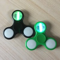 Wholesale Wholesale Kaleidoscope Toy - Patterns Changeable LED Light Fidget Spinner kaleidoscope Tri-spinner Stress Relief LED Spinners For Decompression EDC Toys BEY066
