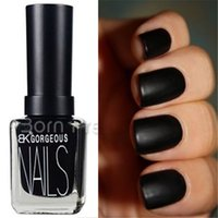 Wholesale-1 Bouteille 15ml Matte Pure Black Color Dull Vernis à ongles Vernis à ongles Nail Art Polish Nail Decoration
