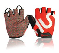ingrosso mtb guanto gel-BOODUN Slip resistente all'usura Gel Mezza Finger Gym Riding Guanti da ciclismo Estate Bicycle Cycle Guantes Ciclismo Luva Bike Mtb all'ingrosso