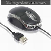 scrollrad usb optisch großhandel-Neue schwarze USB 3D Optical Scrollrad Mini Maus für PC Laptop