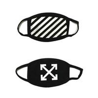 Wholesale Religion Free - OFF WHITE High Street Decorative Cool Twill Religion Arrow Black Cotton Mask