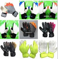 Wholesale Gloves Cut - SGT NK Logo Negative Cut Soccer Goalkeeper Gloves Luxury Brand Top Latex Soccer Football Gloves Latex Plam Goal Keeper Gloves