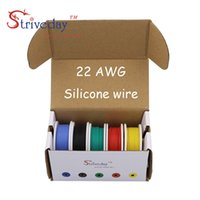 Wholesale Wire Power Cable Box - 30m 22AWG Flexible Silicone Wire Cable 5 color Mix box 1 box 2 package Electrical Wire Line Copper