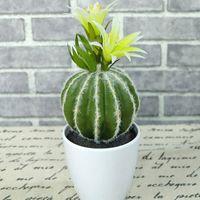 Wholesale Artificial Pot - Wholesale Artificial Succulents Garden Supplies Hair-Planted Cactus Home Decor Desert Potting Plants Simulation Plant Ball Shape Ornaments