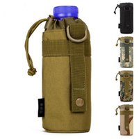 Wholesale Woodland Molle - Wholesale Pocket Outdoors Tactical Mineral Water Bottle Pouch Molle Travel Camp Glass Cover Woodland Sustainment Bag Free Shipping