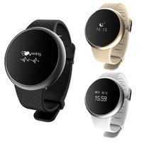Wholesale Heart Bracele - Wholesale- Smart Wrist Band Watch Blood Pressure Oxygen Monitor A98 Heart Rate Bracele For IOS Android L3FE