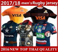 Wholesale Men Leopard Tops - 2017 18 top quality shirts NRL National America leopard St. George USA cowboy Newcastle Knights Iron Patriot rugby Jersey 10 free send DHL