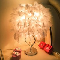 Wholesale Read Steel - Bedside reading room foyer sitting room living Classical heart shape white feather crystal table lamp light