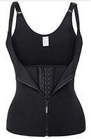 Wholesale pc workouts - 1 Pc Lot New Neoprene Sauna Vest Body Shaper Slimming Waist Trainer Hot Shaper Summer Workout Shapewear Adjustable Sweat Belt Corset Black