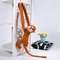 Vente en gros - 1Pcs 60cm Suspendre Long Arm Monkey de bras à queue Peluche Baby Toys Cute Colorful Doll Kids Gift