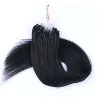 Barato Extensão 1g Loira-Micro Loop Ring Hair Extensions 1g / s 100s / lot 100g Blonde Color 2 beads por strand Straight Virgin Brazilian Hair Hair Extension
