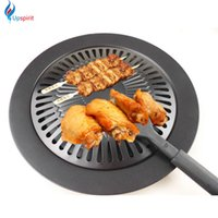 Wholesale Iron Sticks - New Cooking Tools Non -Stick Gas Grill Pan Refined Iron Black Barbecue Bbq Frying Roasting Pans Outdoor Saucepan Panela Sartenes