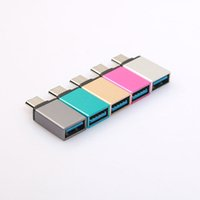 Wholesale Universal Usb Converter - Metal USB Type-C Male to USB 3.0 Female Converter Adapter OTG for Andriod Smartphone