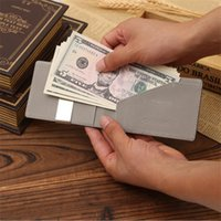 Wholesale Men Checkbook Case - Hot Sale Promotional Genuine Leather Card Thin Case Mens Front Pocket Card Holder Purse Wallet Men Mini Coin Pocket Wallets Gifts For Men