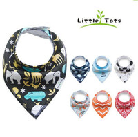Wholesale Infant Feeding Cloth - Baby Bibs Newborn Burp Cloths Slabbetjes Bandana Infants Cotton Boys Girls Saliva Cute Arrow animal friuts Cartoon Feeding Scarf 2016 ins