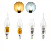 Wholesale e27 5w cool white bulb online - High power W Led candle Bulb E14 E12 E27 V LED chandelier led light lamp bulbs lighting spotlight downlight