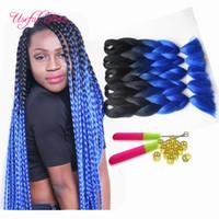 Wholesale color 33 braids resale online - JUMBO BRAIDS high temprature fiber Premium inch SYNTHETIC braiding hair ombre color crochet hair extensions HAVANA crochet braids hair