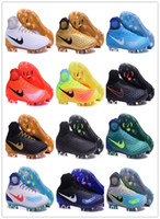 Wholesale Total Rubber - Mens Football Boots Magista obra II FG-Volt Black Total Orange Soccer Cleats High Ankle Soccer Shoes Control Soccer Boots With Box