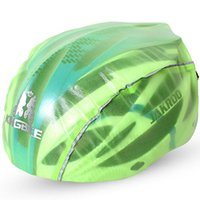 Wholesale Wholesale Bike Helmets - Adult Mountain Bike Cycling Dustproof Helmets Cover Ultralight Road Bike Waterproof Helmets Cover Unisex 100% Nailon TPU Film Silver Green