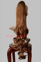 Freeshipping havana mulher afro americana 26 polegadas Brown Hair-Piece Ponytail Ondulado 30
