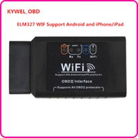 Wholesale Elm327 Android Software - New ELM327 WIFI OBD2 EOBD Scan Tool Support Android and iPhone iPad Software V2.1 H V1.5 Free shipping