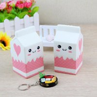 Wholesale Cabinet Child - Kawaii Cute Soft Squishy Charms Milk Bag Toy Slow Rising for Children Adults Relieves Stress Anxiety Cabinet Décor