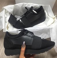 Wholesale Top Brand Name Leather Shoes - Name Brand Patchwork Man Woman Lace-up Trainer Casual Shoes Fashion Luxury Nude Mixed Colors Low Top zapatos Mujer Race Runner