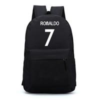 Wholesale Kids Backpack Free Shipping - Wholesale- 7# Bag Ronaldo Backpacks Fashion School Backpacks For Teenagers Boy Girls School Style Nylon Backpacks Kids Gift Free Shipping