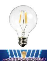 Wholesale Led Globe Bulb Dimmable Free - 2017 new E26 E27 2700K G80 G25 Globe LED Bulb 4W Dimmable LED Vintage Filament Light Bulb free shipping MYY