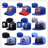 Wholesale Wholesale Sports Logo Hats - 2017 New style fashion MLB Chicago Cubs Baseball Caps Front Logo Alternate Adjustable Hat wicks away Adult Sport Cap XD With Box mix order