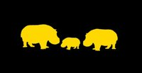 Wholesale Yellow Hippo - Wholesale 20pcs lot Home Decorations Automobile and Motorcycle with Products Vinyl Decal Car Glass window Stickers Jdm Stickers Hippo Family