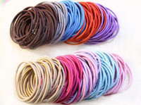 Wholesale Hair Ring Small - Korean style jewelry Whole hair ties accessories ultra high elastic small rubber bands tail seams Tousheng ring