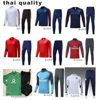 Wholesale Club Sportswear - 2017 Real Madrid Kit Soccer sportswear Football Men Set Winter Streetwear Tracksuits 17 18 Club Ajax Feyenoord thai quality S-XXXL