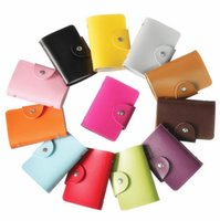 Credit Card sport managers - 24 Bits Fashion New Women Men Credit Card Holder PU Leather Hasp Unisex ID Holders Package Organizer ger wallet
