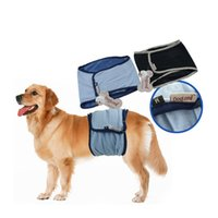 Wholesale Pet Dog Physiological Pants - Adjustable Chest Dog Diaper Pant Breathable Mesh Fabric Dog Physiological Panties Underwear Pet Supplies Blue Black Colors 5 Sizes--XS S