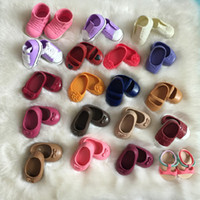 Wholesale Dolls 18inch - 15 Pairs Different Style Shoes Boots Sandal Set Accessories Fits 45CM 18inch Dolls Accessories Girl Our Generation Doll Clothes