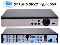 grabadora de 16 canales al por mayor-2019 Xmeye H.265 5IN1 8CH 8MP @ 8FPS / CH AHD DVR NVR XVR CCTV 4K Grabadora de seguridad híbrida Cámara Onvif RS485 Coxial Control P2P Cloud