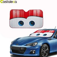 Wholesale Sun Heat - Castaleca 5 Colors Eyes Pixar Heated Windshield Sunshade Car Window Windscreen Cover Sun Shade Auto Sun Visor Car-covers