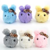 Wholesale Monkey Cute Case - Cute Plush Stuffed Rabbits Doll Keychain for Backpack Phone Coin Case Best Festival Birthday Gift Doll Animal Toy High Quality