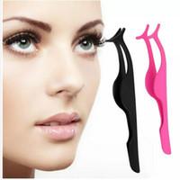 Wholesale False Eyelashes Makeup Tool Stainless Steel False Eyelash Fake Eye Lash Applicator Clip Makeup Tweezers