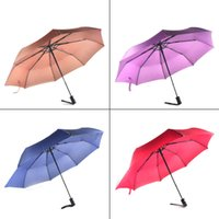 Wholesale Fiberglass Cloths - New Arrive Gentles Ladies Fully-automatic Aluminium Alloy Fiberglass Strong Frame Three Folding Compact Big Rain Umbrella 0703041
