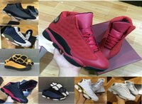 Wholesale Man Online Games - [With Original Box]2017 Air Retro 13 XIII men women Basketball Shoes red Bred He Got Game Black Sneaker Sport Shoes Online Sale