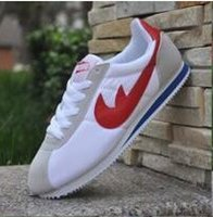 Wholesale 48 Fashion - Hot new brands New 2016 men and women cortez shoes leisure Shells shoes Leather fashion outdoor Sneakers size 36-48