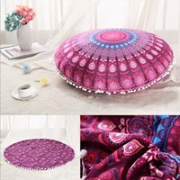 Wholesale Mandala Indian Ombre Pillow Case Floor Pillow Cover Bohemian Pillowcase Hippie Boho Throw Cushion Cover Vintage Sofa Car Decoration Free DHL