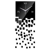 Wholesale Time Clock Decoration - Wholesale- 2016 new arrival time-limited acrylic wall clock mirror clocks for gift modern home decoration balcony courtyard free shipping