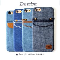 Wholesale Iphone4s Cover Wallet - luxury soft silicone cover case for iphone4s 5s 5c 6s 6plus Cowboy Jeans Wallet Case with credit card Samsung s6edge note 2 J5 J7