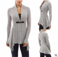Wholesale Thin Sleeve Tattoo - 2017 Europe and the United States burst fashion tattoo stitching two pieces of sweater women long section sweater